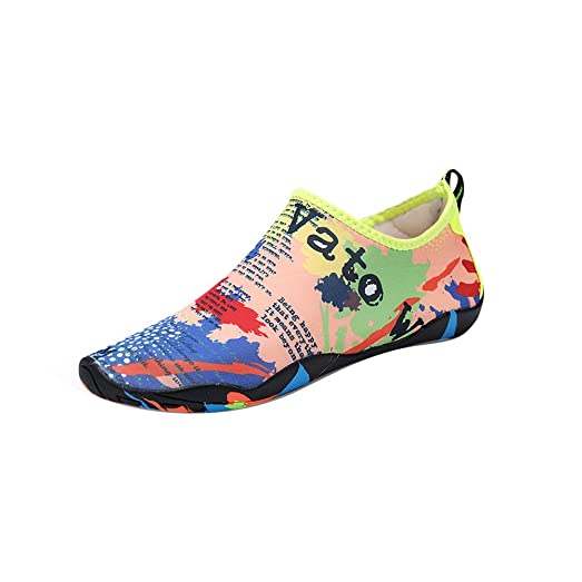 Men and Women's Barefoot Quick-Dry Water Sports Aqua Shoes Earth 45-46