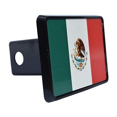 Rogue River Tactical Mexican Mexico Flag Trailer Hitch Cover Plug Gift Idea: Automotive