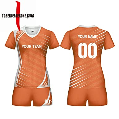 sports shoes 85bc6 6c767 Amazon.com: Custom Women's Sublimated Volleyball Shirts ...