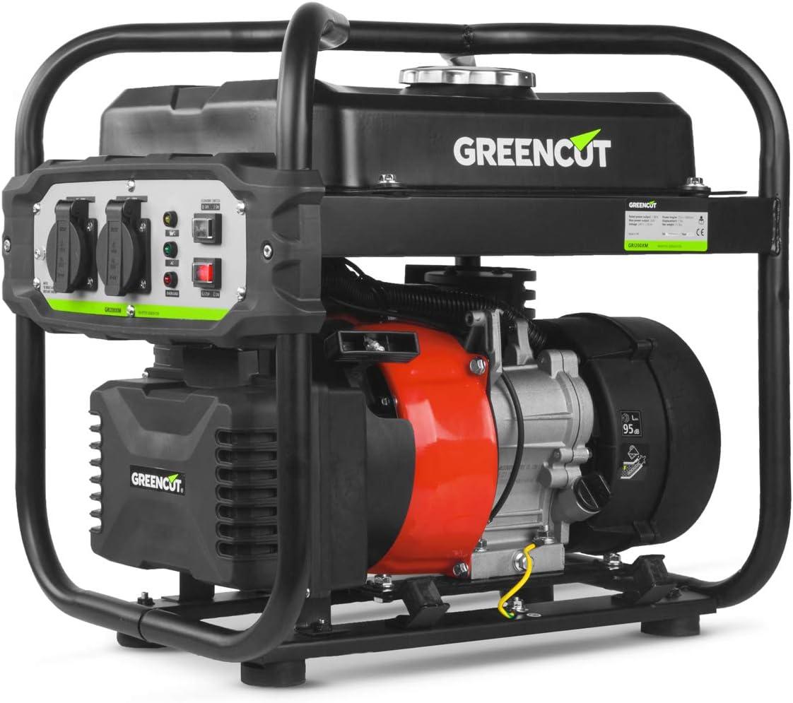 GREENCUT GRI200XM - Generador eléctrico de gasolina inverter motor 4 tiempos 119cc con salida 2kw: Amazon.es: Bricolaje y herramientas