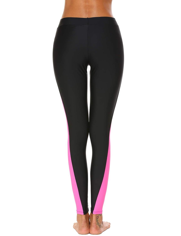 UNibelle Femme Legging de Sport Longue Section Maillot de Pain pour Protection UV Surf Protection Solaire S-XXL