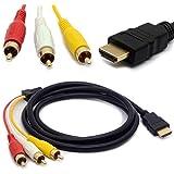 1.5 m HDMI maschio a 3 RCA audio video AV cavo adattatore prolunga codice per TV HDTV DVD 1080P m/m Connettore convertitore Goldplated
