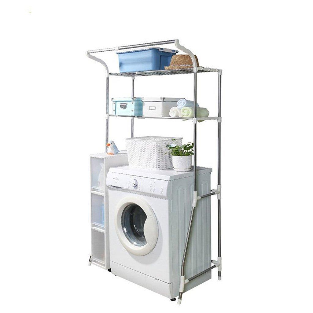 Washing Machine Shelf Stainless Steel Floor Retractable Bathroom Storage Rack (10110148cm)