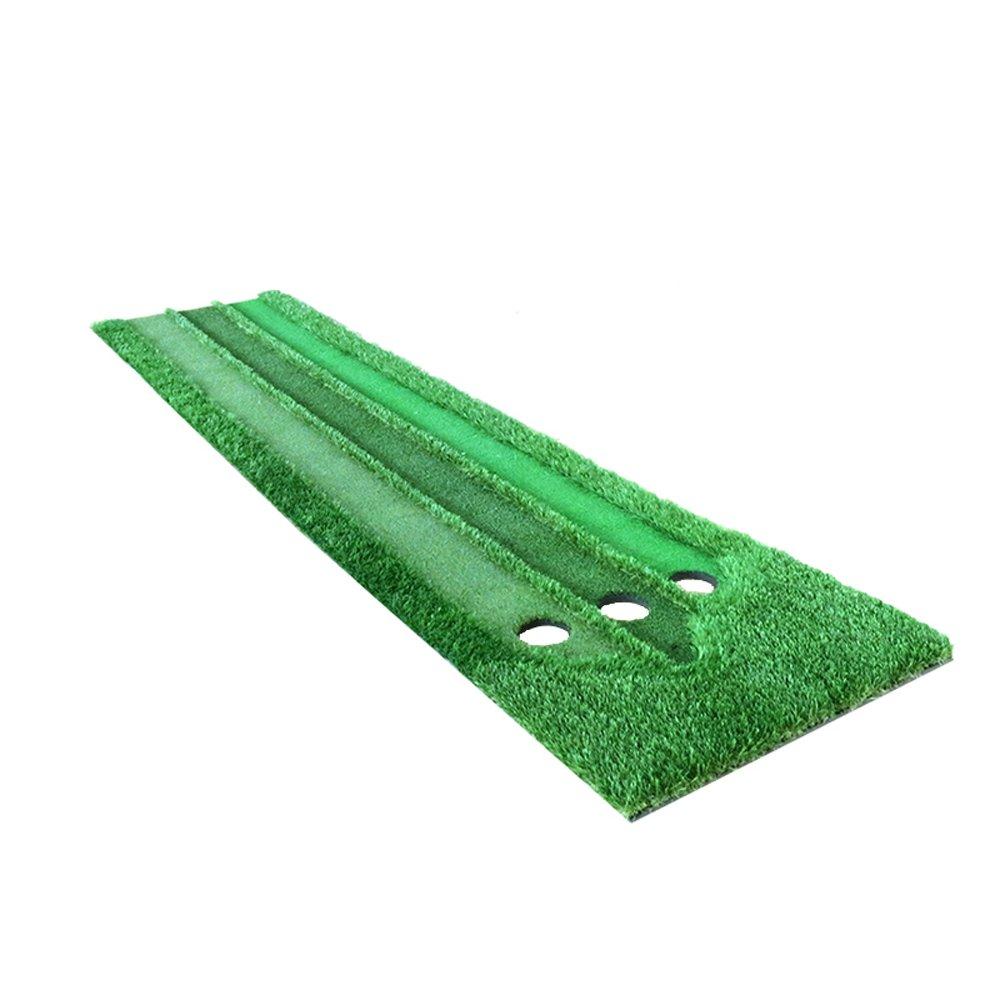 QAR ゴルフ パッティング 練習 スリースピード 芝生 パター 練習 インドア ミニ グリーン 芝生 ゴルフ マット