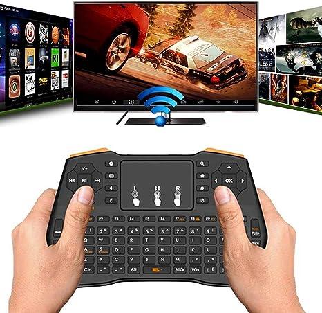 Mini teclado inalámbrico AllRight con panel táctil, iluminación USB, teclado inalámbrico de 2,4 GHz, mini