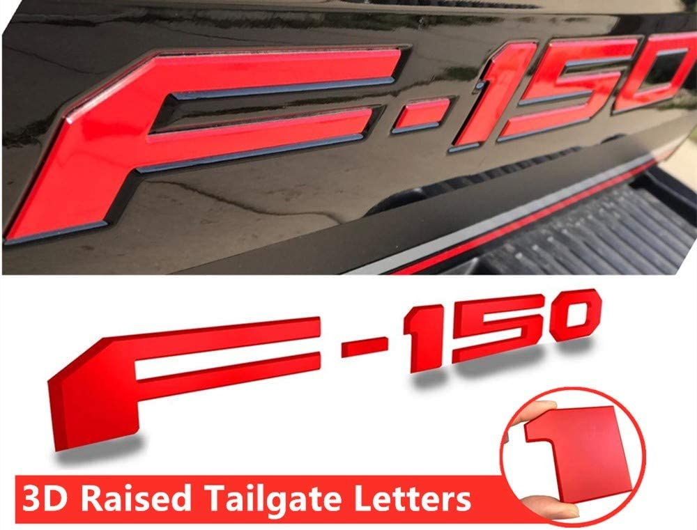 Tailgate Insert Letters for Ford F150 2018-2019 Black American Flag 3M Adhesive /& 3D Raised Tailgate Decal Letters