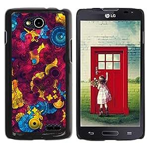 Be Good Phone Accessory // Dura Cáscara cubierta Protectora Caso Carcasa Funda de Protección para LG OPTIMUS L90 / D415 // Sewing Abstract Maroon