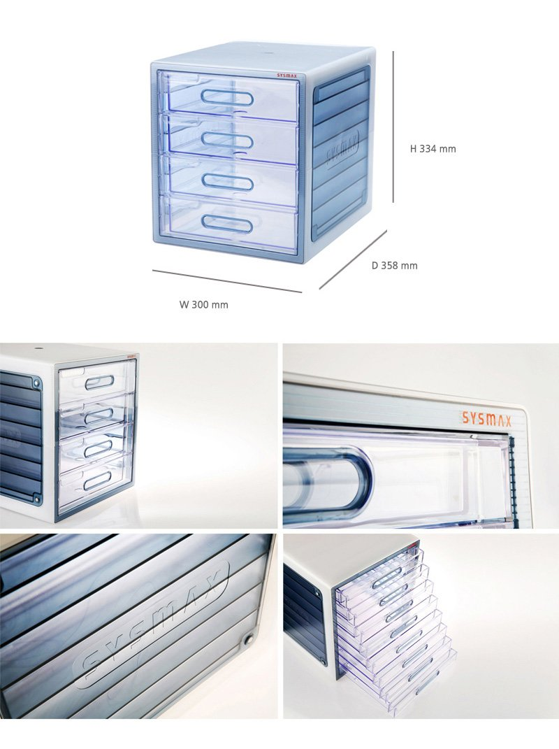 6 Drawers Translucence File Cabinet Lux Multi Cabinet Office Home 10006 by Sys