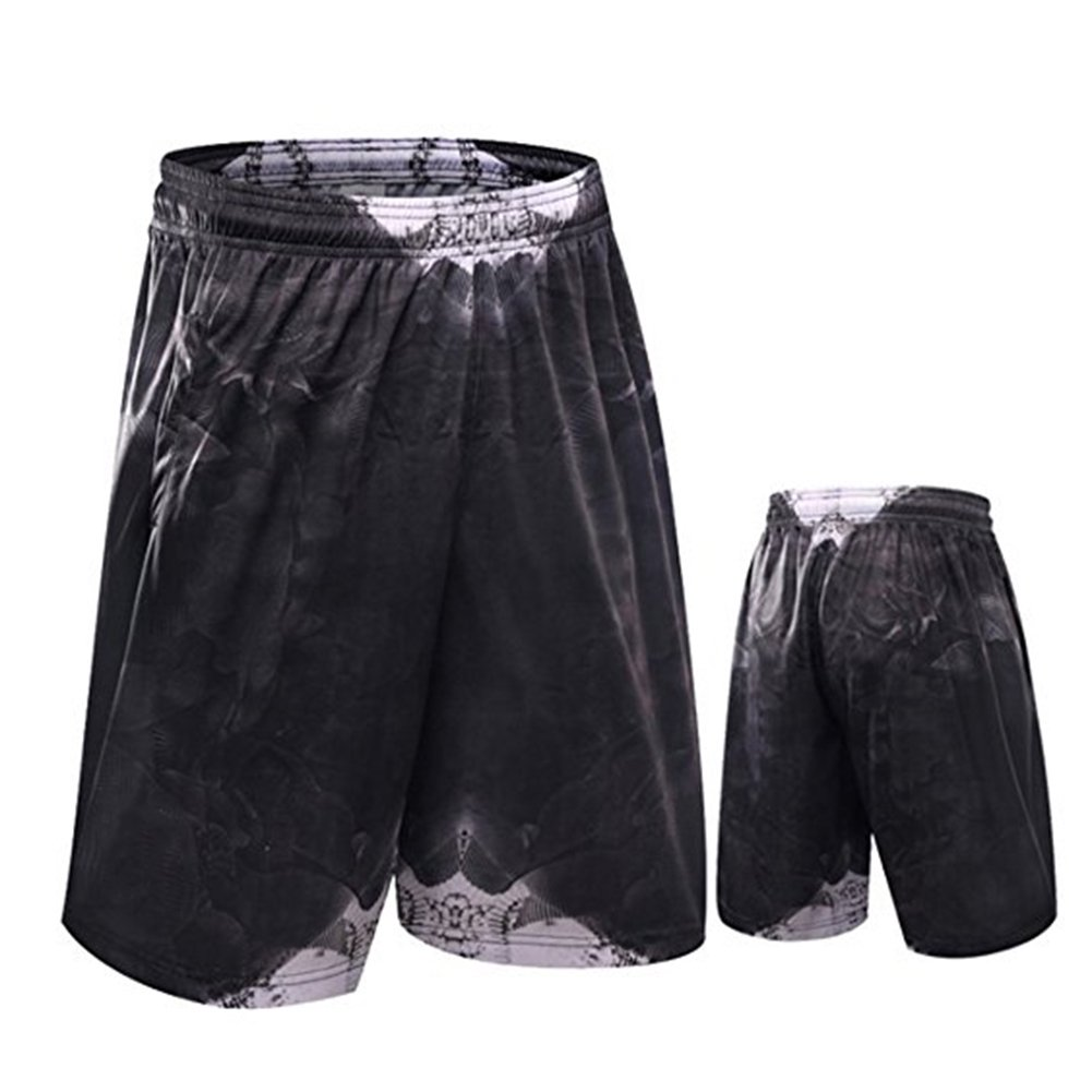 iKRR Mens Sport Workout Loose Solid Color Mesh Breathable Running Basketball Shorts with Pockets