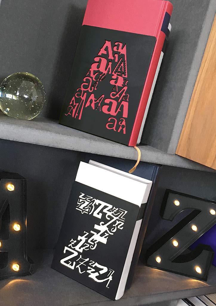 2er Set Buchst/änder aus Metall mit ausgestanzten Buchstaben In Einer Geschenkbox Buchst/ützen A /& Z Letters libri/_x