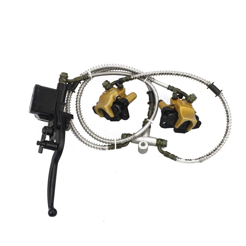 GOOFIT Front Disc Brake Master Cylinder Hydrualic Caliper Assembly for Chinese 50cc 70cc 90cc 110cc 125cc ATV Quad C029-054