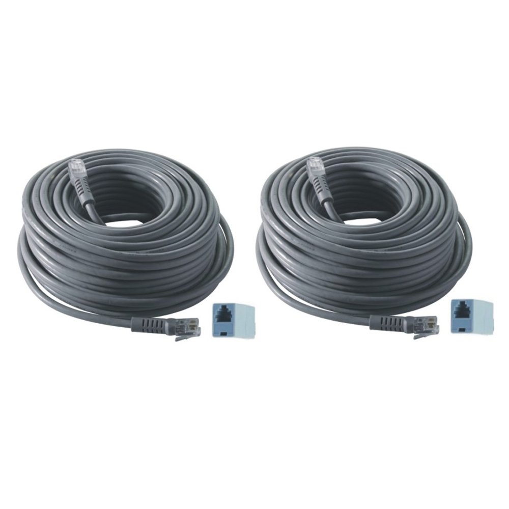 REVO America 100-Feet RJ12 Cable (2-Pack) with Connectors