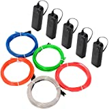 LUNSY EL Wire Kit, 9.82foot Neon Rope Lights, Portable Battery Operated EL Lights  for Cosplay Dress Festival Halloween Party