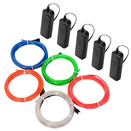 Amazon.com : LUNSY El Wire, El Wire Kit Battery Operated For Party ...