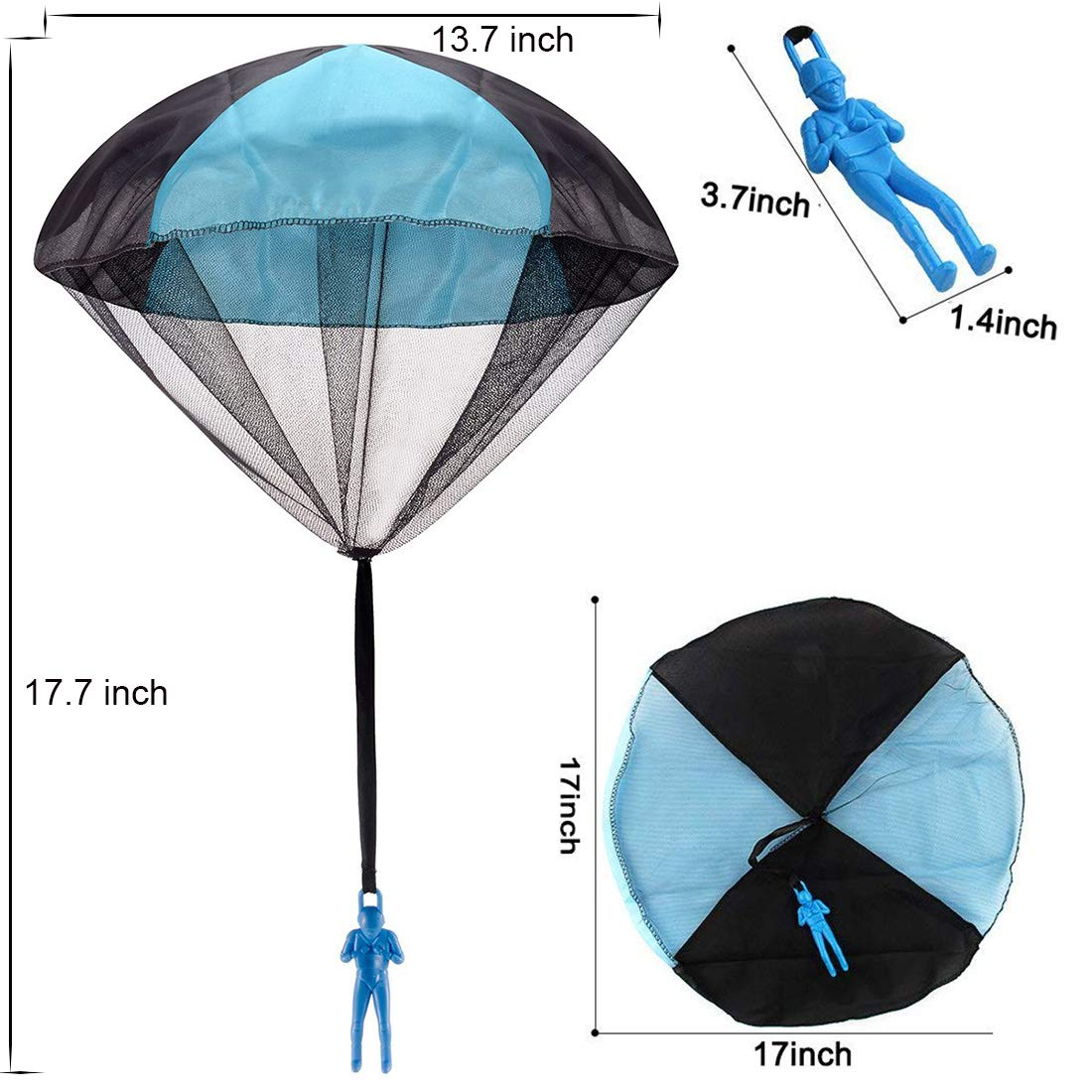 Huihui Decoration 7 Pieces Parachute Toys,Tangle Free Parachute Men Throwing Hand Throw Soldiers Toss It Up and Watching Landing Outdoor Parachute for Kids by Huihui Decoration (Image #2)