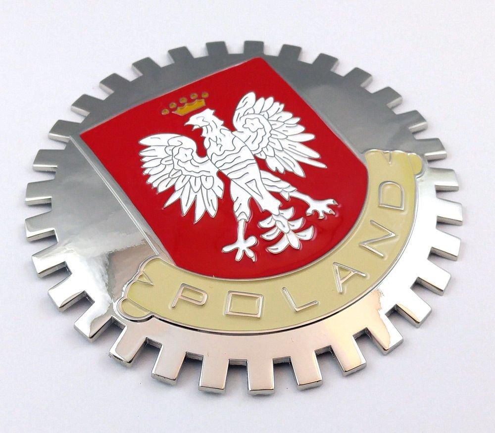 Aplique Parrilla Polonia Polska Bandera polaca