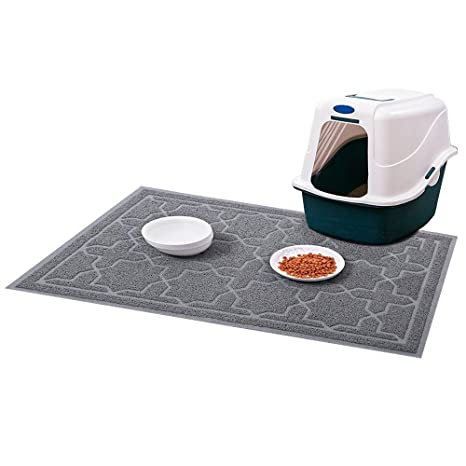 Alfombrilla para Arena de Gato para Perro Material Impermeable de PVC para Control de Scatter Antideslizante
