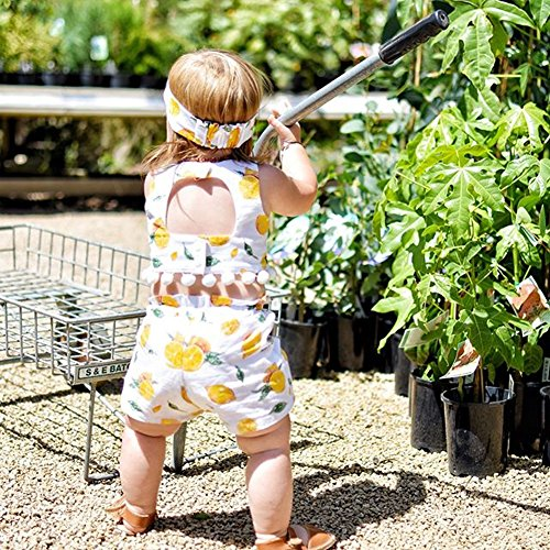 Amazon.com: 3 piezas bebé niñas sin mangas Crop parte ...
