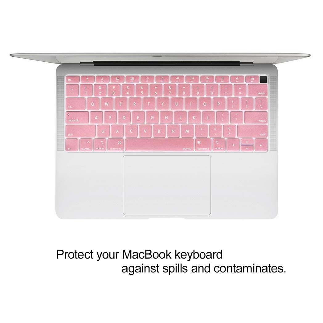 MOSISO MacBook Air 13 Case 2019 2018 Release A1932 with Retina Display Rose Quartz Plastic Hard Case Shell with Keyboard Skin Cover Only Compatible with MacBook Air 13 inch with Touch ID