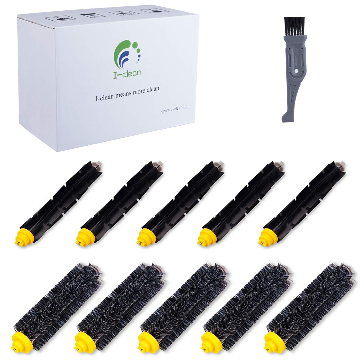 I clean Roomba Replenishment Kits, 10 Packs Brush Accessories Parts Compatible with iRobot Roomba 650 675 690 770 780 790 Vacuum Cleaner (600&700 Series),with A Free Cleaning Brush by I clean