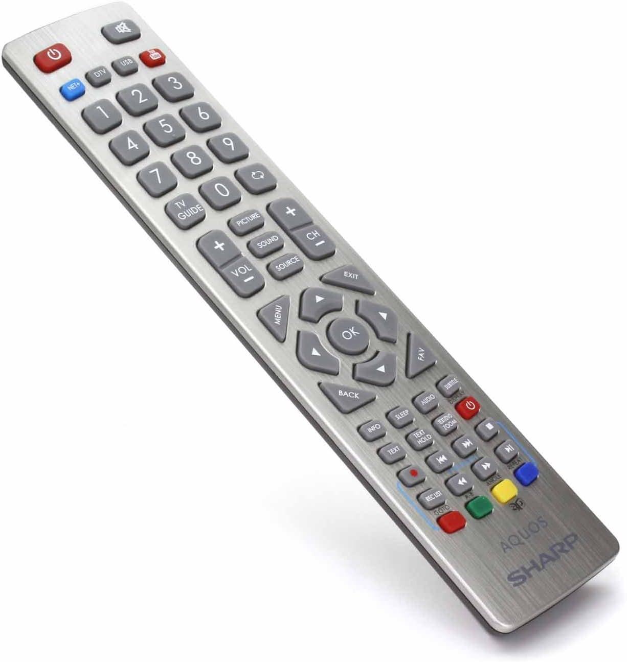 Control Remoto para Sharp Aquos SHW/RMC/0003 Full HD Smart LED TVS: Amazon.es: Electrónica
