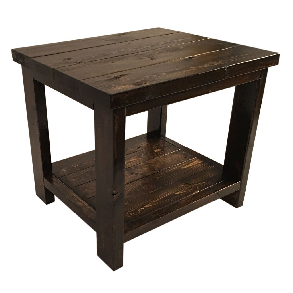 Amazon.com: Farmhouse End Table - Rustic Living Room Side Table