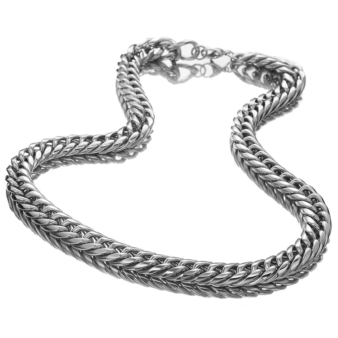 Puresteel Jewelry 9//11//13//16//18//22mm Fashion Silver Curb Chain Stainless Steel Link Necklace Bracele for Men