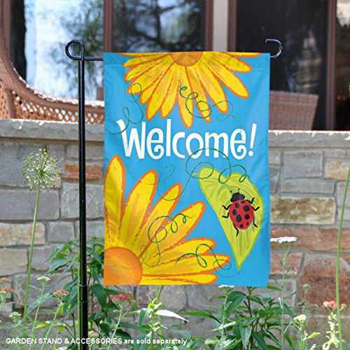 Ladybugs Flag Banner (Gerbers Welcome Ladybug Garden Flag Flower Decorative Mini Banner 12.5