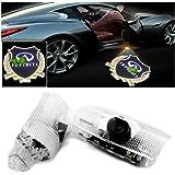 Ltsplay カーテシライト ドアウェルカムライト ドアカーテシランプ レーザーロゴライト LEDロゴ投影 ゴーストシャドウ Y50 フーガ Y51 シーマ J50系 2個セット 車用カーテシ 純正交換タイプ for Infiniti gold