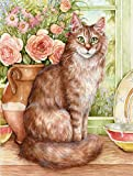 Caroline's Treasures CDCO0236CHF Maine Coon Cat by Debbie Cook Canvas House Flag, Large, Multicolor
