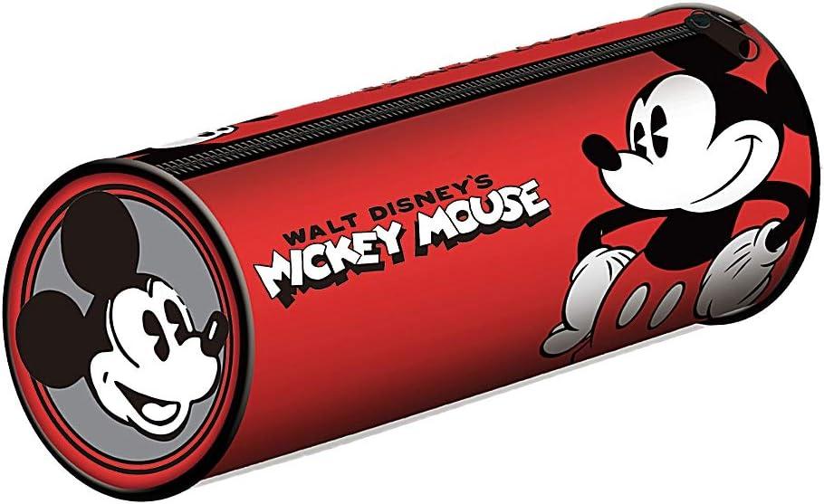 Estuche de PVC con cremallera de Mickey Mouse: Amazon.es: Oficina y papelería