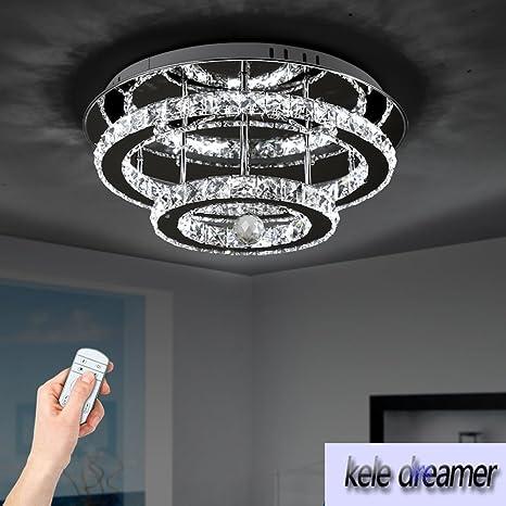 Lámpara de techo LED de cristal Lámpara de lujo moderna ...