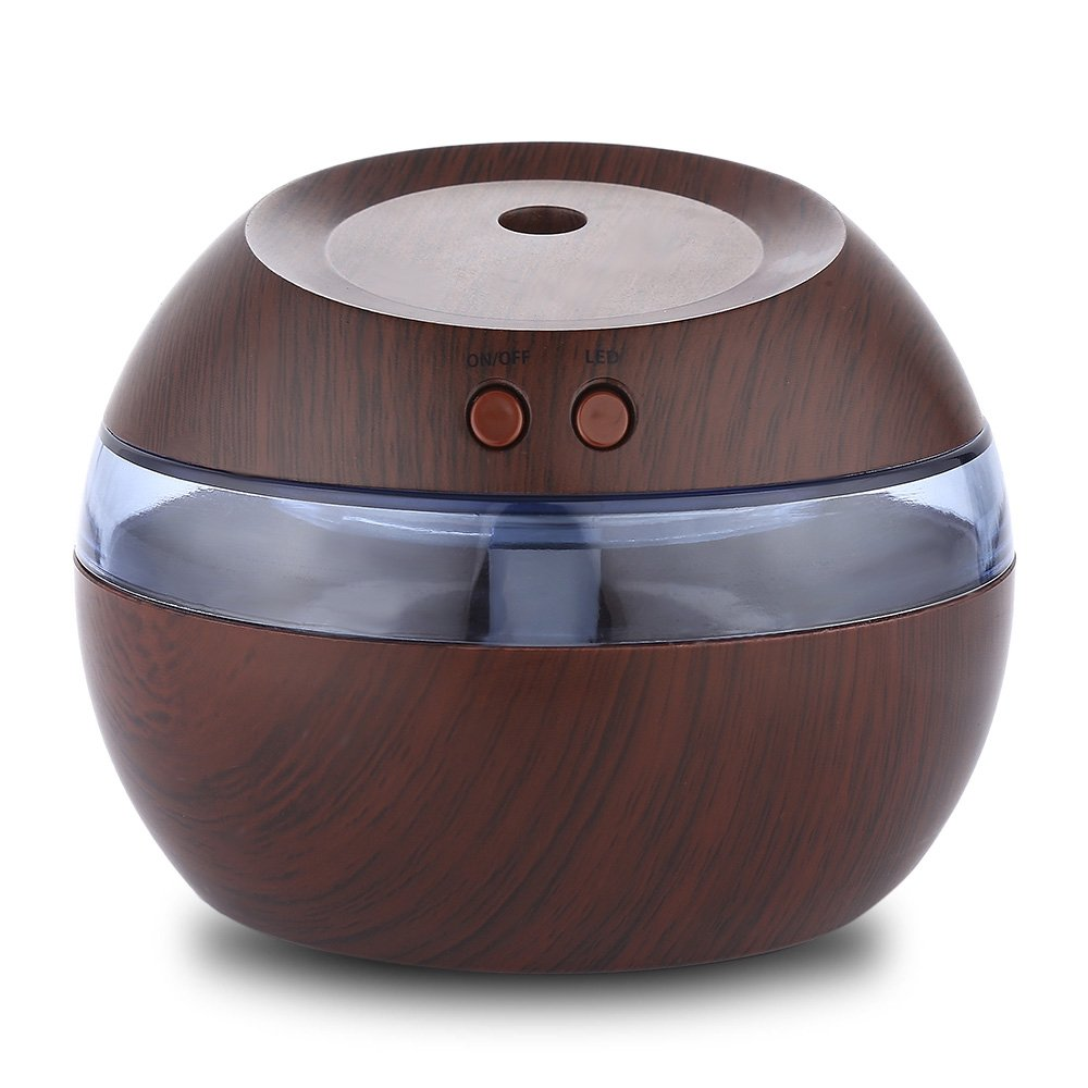 Aromatherapy Oil Diffuser 290ml Wood Grain Humidifier, Ultrasonic Atomizing Scent Humidifier, Waterless Automatic Closing Setting, for Home Office Bedroom Yoga Spa
