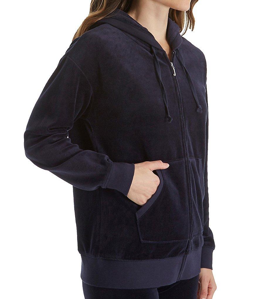 Juicy Couture BLACK LABEL Women's Velour Beachwood Jacket, Regal, S