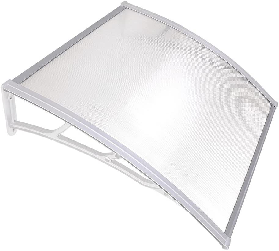 "Yescom 39x39"" Outdoor Door Window Awning Canopy Patio Cover Rain Snow Protection One-Piece Polycarbonate Hollow Sheet"