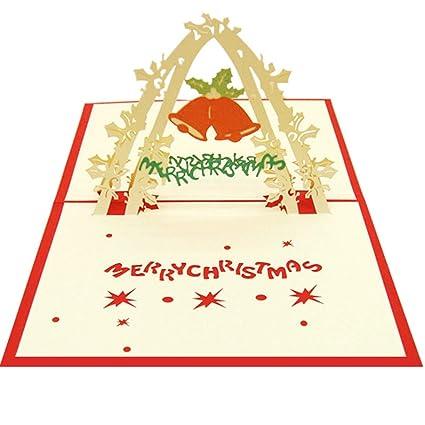 1pc Navidad 3D Tarjetas de felicitación surja las Tarjetas ...
