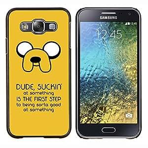 TECHCASE---Cubierta de la caja de protección para la piel dura ** Samsung Galaxy E5 E500 ** --Mensaje divertido Suckin '