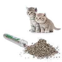 Pets Empire Natural Catnip Grass Tube 40ml Cats-go-Crazy Menthol Flavor Cat Treat Toys