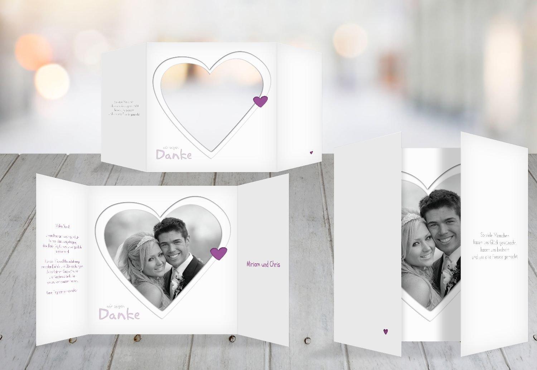 Kartenparadies Danksagung für für für Hochzeitsgeschenke Hochzeit Dankeskarte Herzform, hochwertige Danksagungskarte Hochzeitsglückwünsche inklusive Umschläge   20 Karten - (Format  145x145 mm) Farbe  RosaLeuchtend B01N7ULX0M   eine große Viel 5099dd