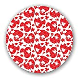 Uneekee Heart Puzzle Lazy Susan: Large, pure birch wooden Turntable Kitchen Storage