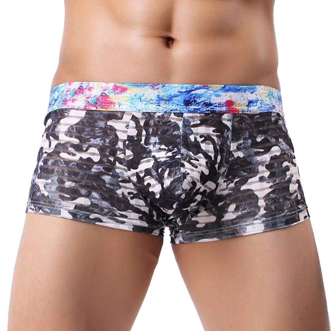 Men's Underwear, Allywit Men Camouflage Elastic Boxer Briefs Shorts Soft Underpants Men' s Underwear
