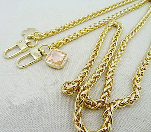 High-grade Rhinestone Clover Accessories Shape Chain 55 inch Long Golden Replacement Purse Chain strap for Handbag Bag Wallet Width - Burch Strap Replacement Tory