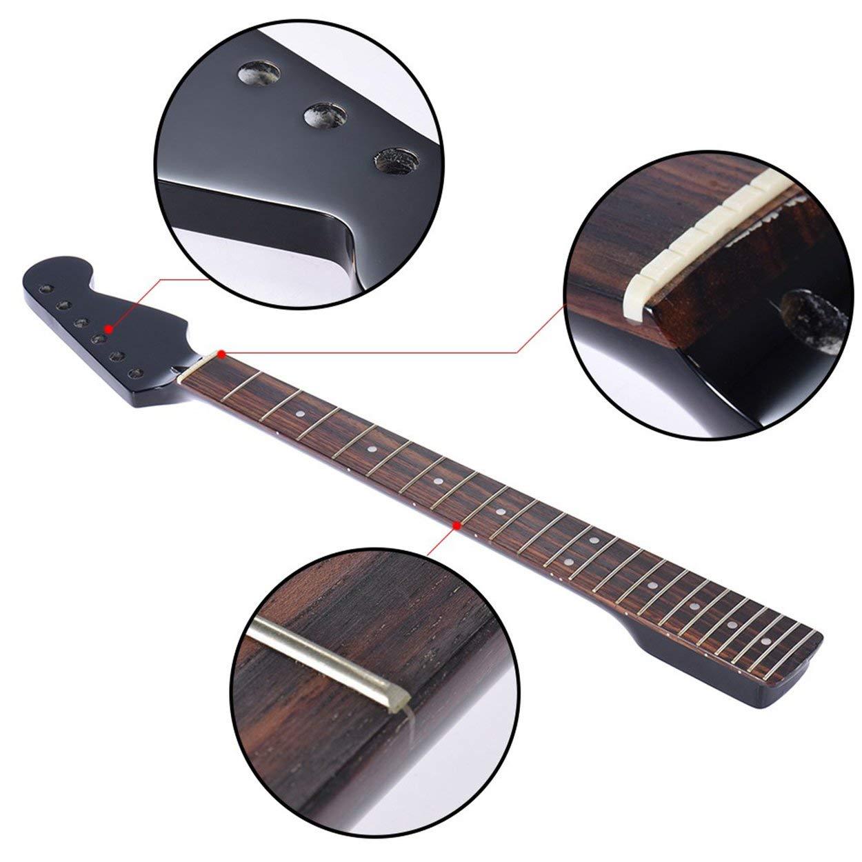 Reemplazo del mástil de arce Diapasón de palisandro para guitarra eléctrica Fender Strat Suministros de instrumentos musicales: Amazon.es: Instrumentos ...