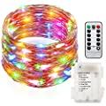 GDEALER 8 Modes Fairy String Lights 33ft 100LED Waterproof Copper Wire Fairy Lights Starry String Lights Battery Powered Remote Control for Outdoor DIY Dinner Party multi color(Battery NOT INCLUDED)