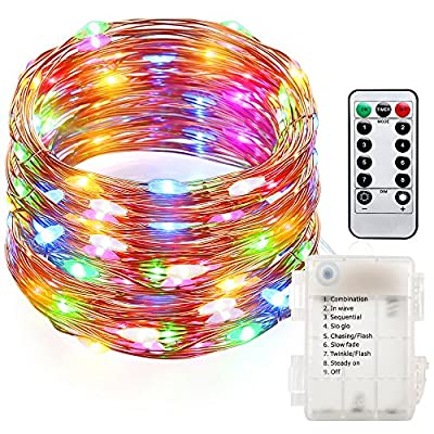 GDEALER Fairy Lights Fairy String Lights Battery Operated WaterproofRemote Control String Lights