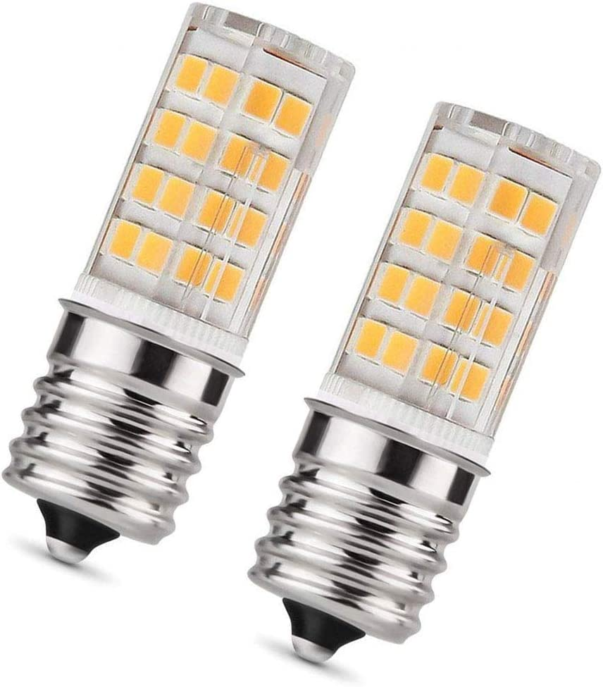 MAMA Base T7 E17 LED Bulb for Microwave Oven, Freezer, Under-Microwave Stove Light 35W-Equival, Pack of 2 (Warm White)