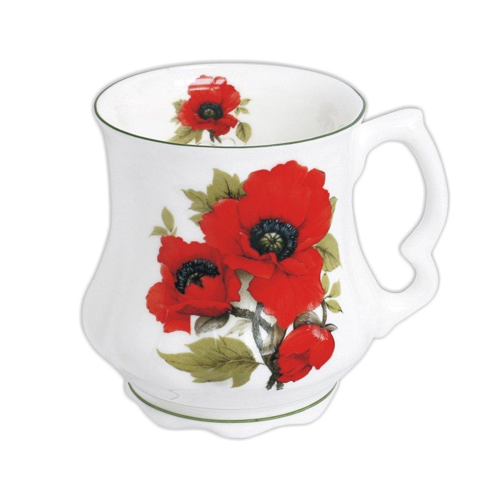 DAVID MICHAEL Grandmother's Large Coffee Tea Mug with poppies