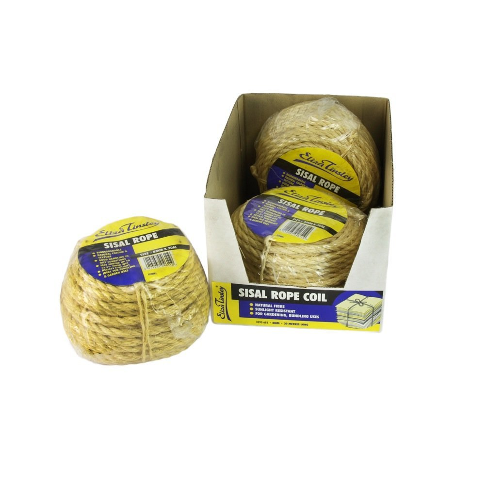 Eliza Tinsley 8mm Sisal Rope 30M/Coil (Box of 4)