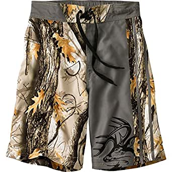 Legendary Whitetails Men's God's Country Camo Lakeside Swim Shorts God's Country Camo Small