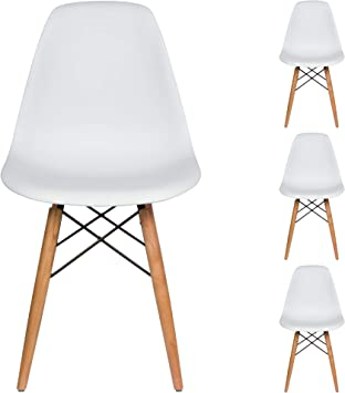 Amazon Com Liani Mid Century Modern Chair White Designer Monoframe Modern Dining Chairs Set Of 4 For Living Room Accent Chair Side Chair Dining Table And Kitchen Chairs Midcentury